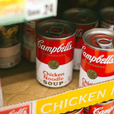 Campbells tinned chicken noodle soup, no Brexit deal, Lucre