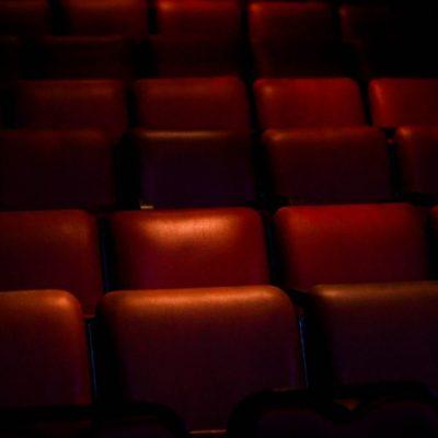 Fantastic film, empty red cinema seats